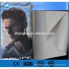 Double printable blockout luz bandeira 280gsm com ilhó de metal