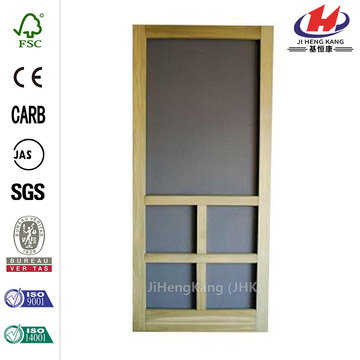 Summit Wood Unfinished Reversible Hinged Screen Door