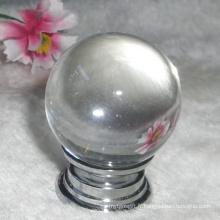 Poignée en forme de boule ronde en cristal blanc transparent de 30mm de mode