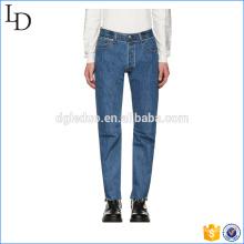 Синий классический мыть мужчины спорт джинсы брюки узкие высокое качество джинсы брюки