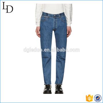 Bleu classique lavé hommes sport jeans pantalons jeans skinny de haute qualité