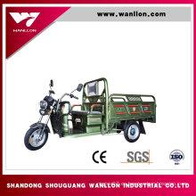 Triciclo eléctrico del cargo barato rápido 800W con la cabina