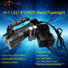 Jexree high power Rechargeable 3500lm flashlight 4*LED 4*18650 battery