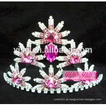 Colorido alibaba china figurino joia jóias rosário flor tiara