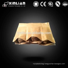 New style customize printing ziplock stand up kraft paper bag