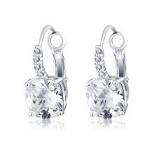 Nouveau pas cher en laiton Micro Inlay Zircon Femmes Boucles d'oreilles (CER0207-B)