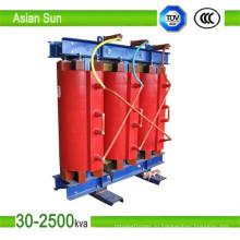 33kV 630kVA трансформатор сухого типа для подстанции фабрика