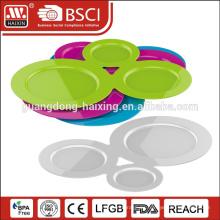 Reutilizables duro plástico compartimiento seccional platos
