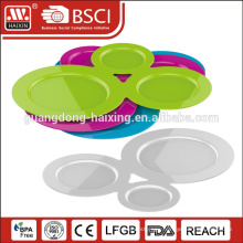 3 pieces plastic soup plate with cup holder
