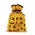 Pas cher prix Orange Halloween cordon sacs Spider Web