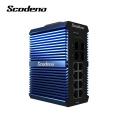 Scodeno IP50 Din-Rail commutateur de réseau industriel 4 SFP 8 ports Gigabit Ethernet Switch commutateur Lan extérieur