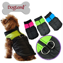 Wholesale Waterproof Fabric Dog Winter Coat With Zipper Warm Pet Harness Jacket On Sale