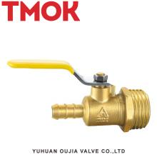 válvula de gas de alambre exterior de mango largo de latón