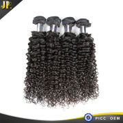 JP silky natural hot sales double layers curly hair and supreme remy hair weave