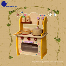 Wooden Play Kitchen Ware Pretend Set Toys