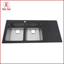 Double Bowl mit Board Glaswaschbecken
