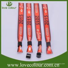Custom Event Satinband Armbänder Armbänder für Festival