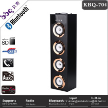Portable 4inch 40W music mini bluetooth speaker with LED disco light