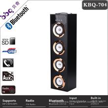 Портативный 4-дюймовый 40Вт музыка мини Bluetooth-динамик с LED свет диско