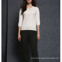 17PKCS491 2017 knit wool cashmere knitted lady sweater
