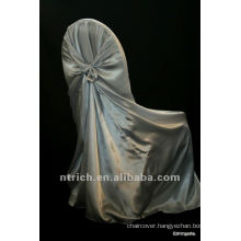 self-tie back chair cover,CT449 satin chair cover,universal chair cover