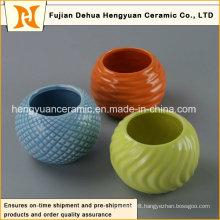 Household Decoration Color Ceramic Flower Pots, Color Ceramic Jar (home decoration)