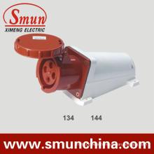 63A 125A 4pin Wall Mounting Socket, Industrial Socket IP67, PA66 220-415V