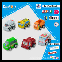 Newest oem pull back mini cartoon bus toy