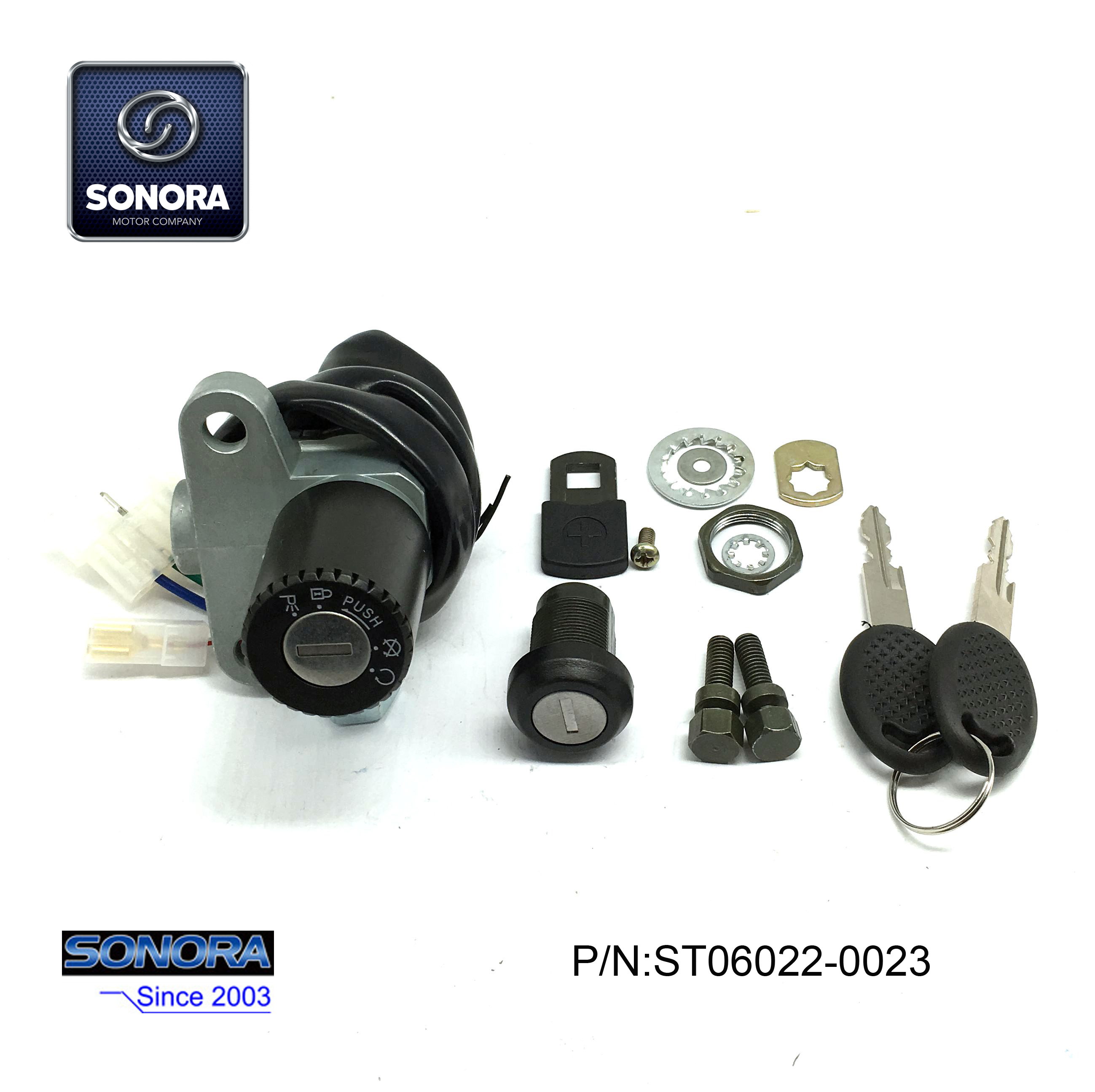 ST06022-0023 DERBI SENDA 3 wires lock set