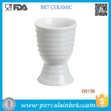 Weißer Streifen Porzellan Einweg Eierbecher