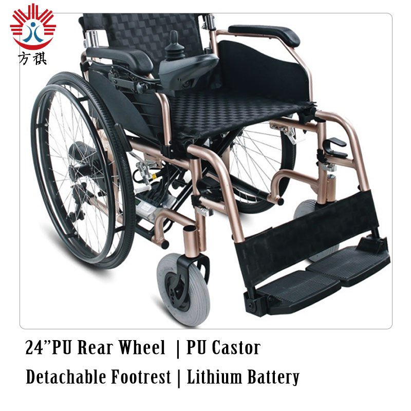 Aluminum Electric Wheelchair Pu Wheel
