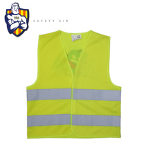 Standard yellow Safety vest for Children, PMS Fabric colour can be customized