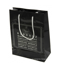 Black Color Paper Shopping Bag for Gift Packing