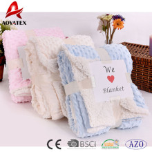 new design super soft microminkm solid sherpa blanket