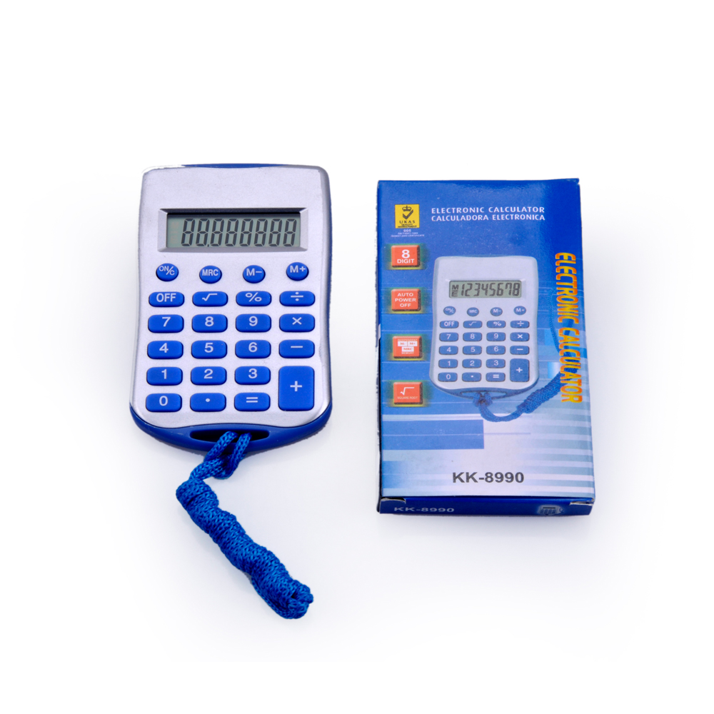 8 Digit Kids Gift Pocket Calculator with Lanyard
