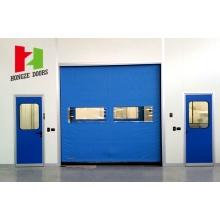 Porta de armazenamento a frio de alta velocidade com zíper flexível