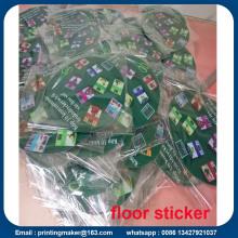 Señales de adhesivo de piso personalizado con troquelado