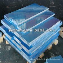 Blauer Film 8011 H24 Aluminiumdachblech in China hergestellt