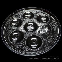Plat plat en plastique de 32 cm Plat plat en plastique