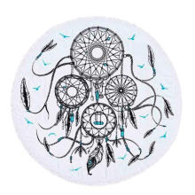 100% cotton creative Dream catcher Round Beach Towel RBT-174