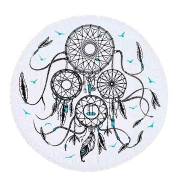 100% cotton creative Dream catcher Round Beach Towel RBT-174