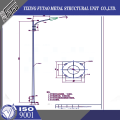 10M Galvanized Double Arm Octagonal Street  Pole