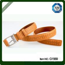 2015 high fashion mens genuine leather belt spanish italian leather elegant texture leather