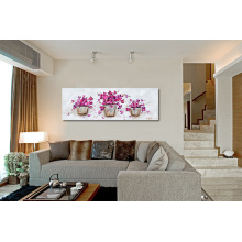 Wild Flower Bouquet Wall Art Purple Flower Oil Painting