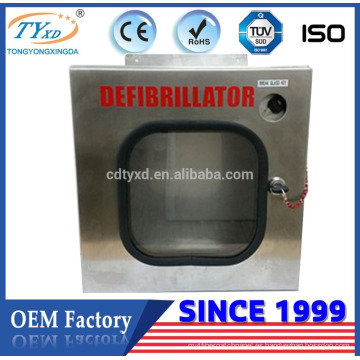 Para el desfibrilador AED Hsinda-Cabinet fabrica el gabinete de acero inoxidable IP56