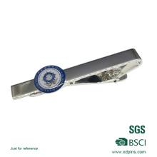 Pince à cravate en émail souple argenté personnalisé 2016