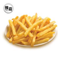 aperitivos de papas fritas a baja temperatura, de color amarillo claro