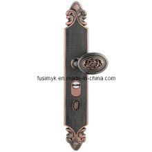 Manijas de puerta de bronce rojo de alta calidad