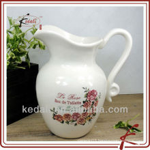 Hot Cheap Porcelain Ceramic Water Pitcher Tin Pitcher