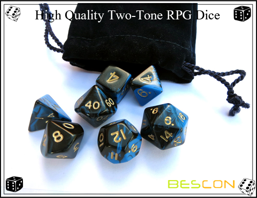 High Quality Two-Tone RPG Dice